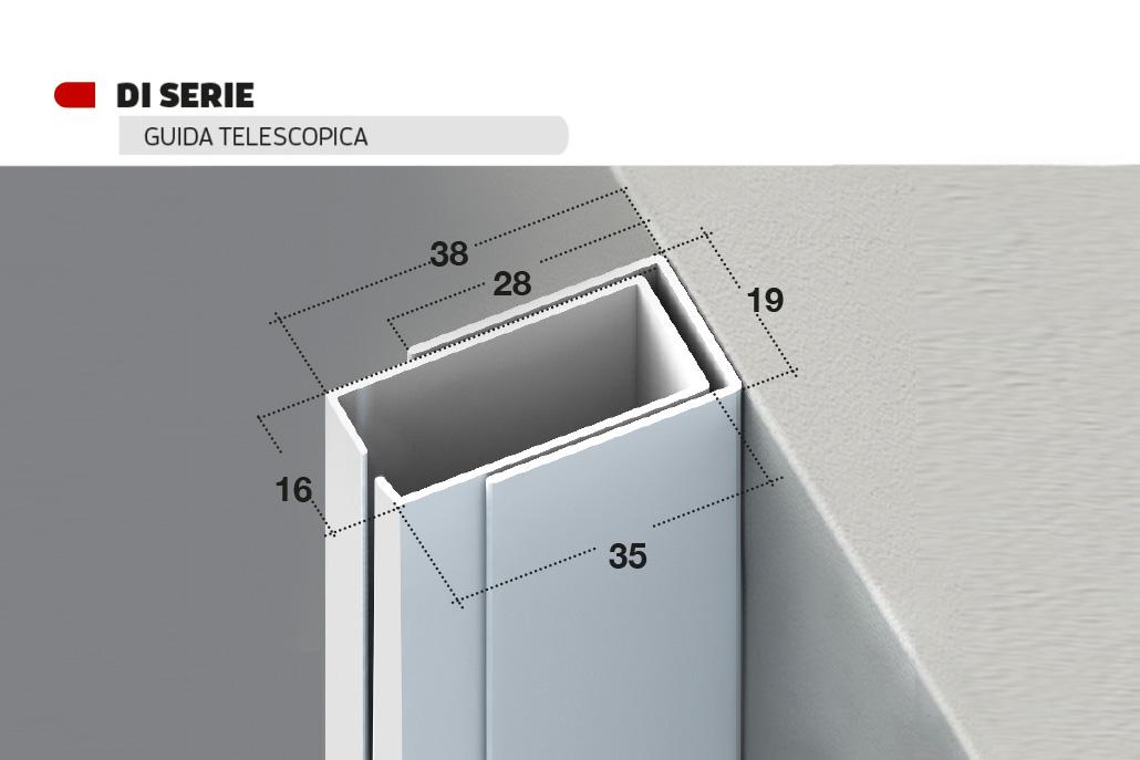 Guida telescopica verticale